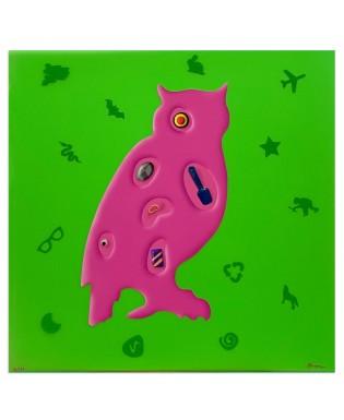 Renzo Nucara - Gufo - 50x50 cm