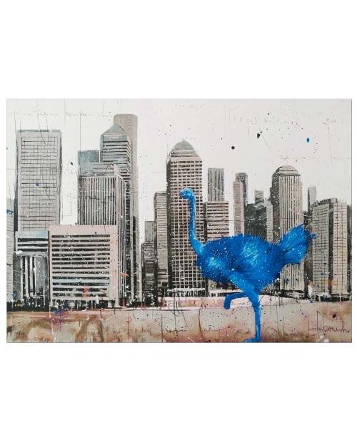 Misplaced Blu NY- 50x70 cm - serigrafia
