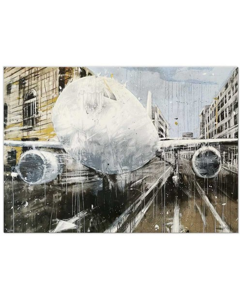 Misplaced white - 70x100 cm - serigrafia