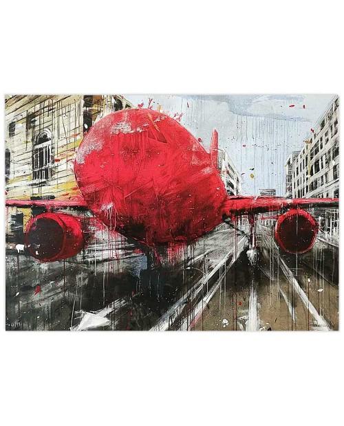 Misplaced red - 70x100 cm - serigrafia