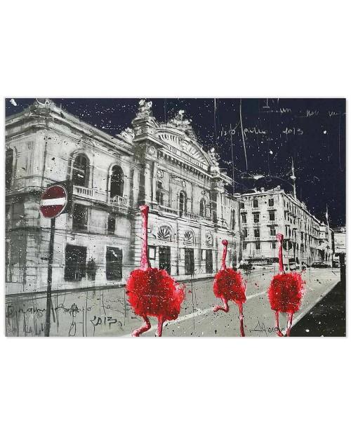 Misplaced Pet Red - 49x69 cm - serigrafia