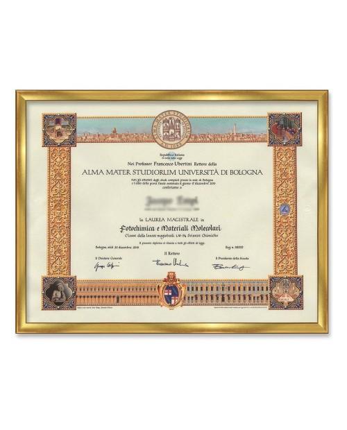 Cornice liscia per diplomi oro