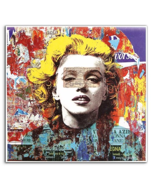 Giuliano Grittini - Marilyn 8 - 91x91 cm