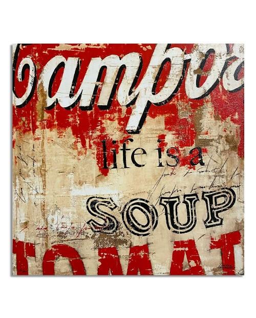 Lorenzo Crivellaro - Life is a soup - 49x49 cm