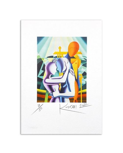 Mark Kostabi - Memories of the future - 25x35 cm