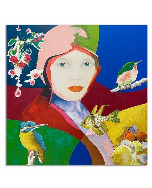 Pietro Delasco - Eden 2 - 80x80 cm