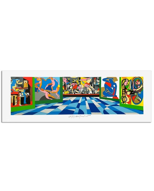 Ugo Nespolo - Museo del Novecento - 35x100 cm